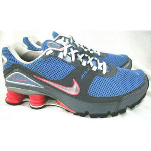 NIKE Shox Turbo V+ Training Shoes Blue Pink Gray 9